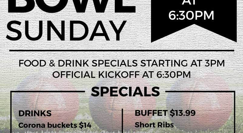 Celebrate the Super Bowl with us