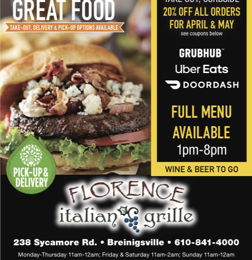 Florence Grille offers curbside pickup